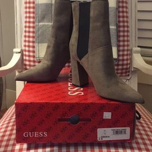Very fun brand new NEVER worn gray Guess bootie!